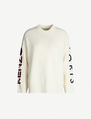 KENZO Paris loose-fit wool-blend jumper