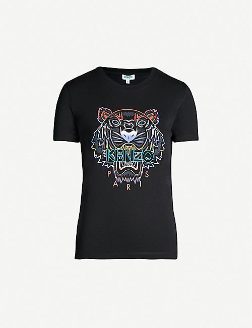 KENZO Gradient tiger cotton T-shirt