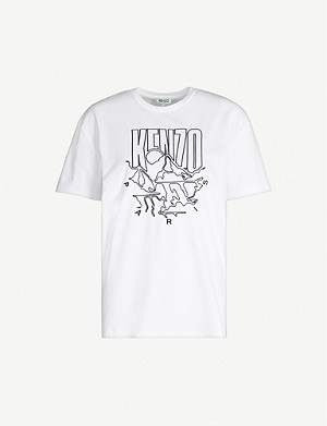 KENZO Logo-embroidered cotton-jersey T-shirt