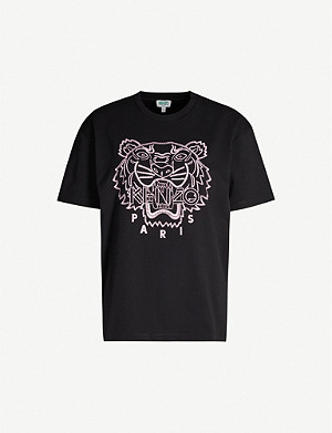KENZO Brand-embroidered cotton-jersey T-shirt