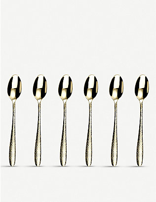 ARTHUR PRICE: Champagne Mirage stainless steel sundae fork 6-piece set