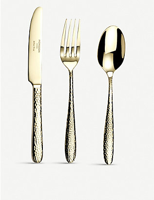 ARTHUR PRICE: Champagne Mirage stainless steel child's cutlery 3-piece set