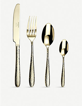 ARTHUR PRICE: Champagne Mirage stainless steel cutlery 16-piece set