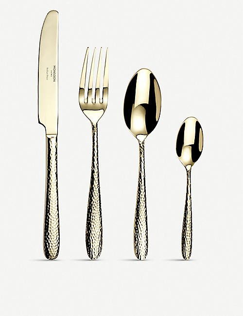 ARTHUR PRICE: Champagne Mirage stainless steel cutlery 32-piece set