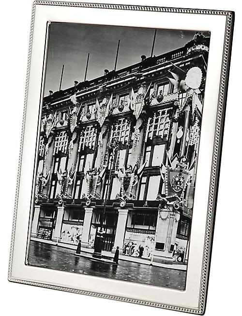 "ARTHUR PRICE: Bead sterling silver photo frame 10"" x 8"""