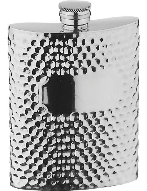 ARTHUR PRICE: Hammered pewter hip flask 0.17L
