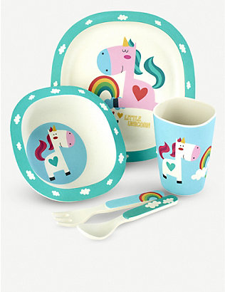 ARTHUR PRICE: Bambino unicorn bamboo cutlery set