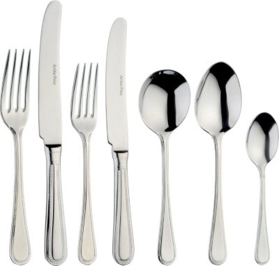 ARTHUR PRICE Bead 44-piece stainless steel cultery set for 6