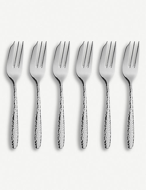ARTHUR PRICE Mirage stainless steel pastry fork 6-piece set