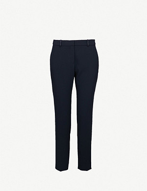 CLAUDIE PIERLOT Tapered high-rise crepe trousers