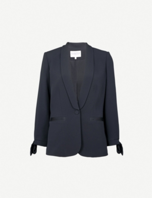 CLAUDIE PIERLOT Single-breasted crepe tuxedo jacket