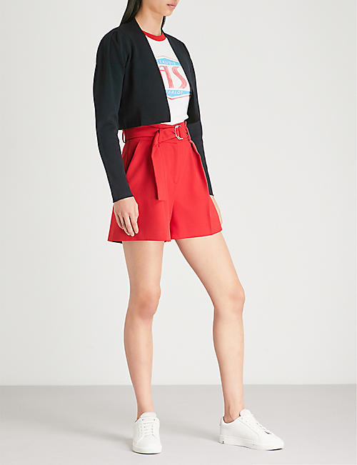 CLAUDIE PIERLOT Cropped knitted cardigan