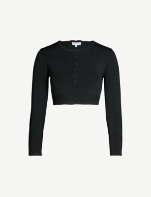 CLAUDIE PIERLOT Metis cropped knitted cardigan