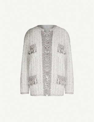 CLAUDIE PIERLOT Matina cotton-blend tweed cardigan