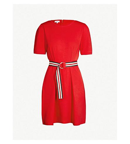 Timini Striped Belt Cotton Jersey Dress by Claudie Pierlot
