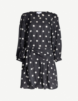 CLAUDIE PIERLOT Ramia polka-dot woven dress