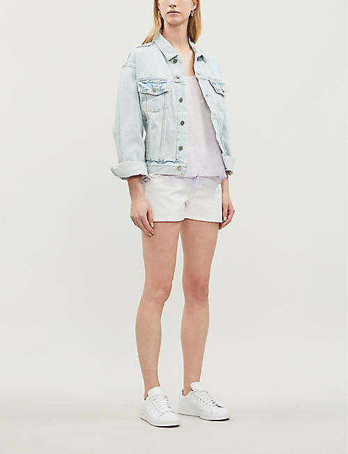 CLAUDIE PIERLOT Ellipse tie-dye denim shorts