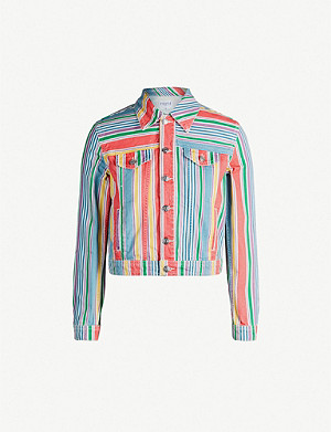 CLAUDIE PIERLOT Vacances multi-coloured cropped denim jacket