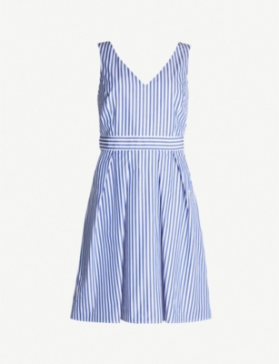 CLAUDIE PIERLOT Rencontre striped cotton dress