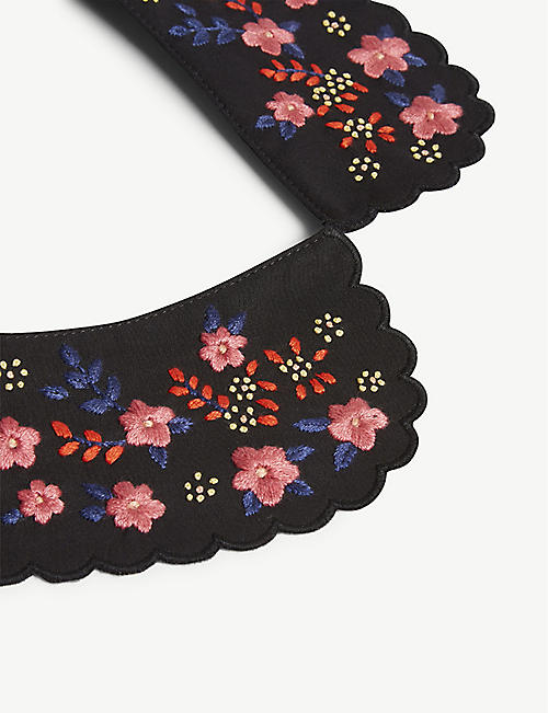 CLAUDIE PIERLOT Floral embroidered Peter Pan collar