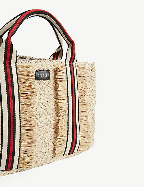CLAUDIE PIERLOT Axel raffia basket bag