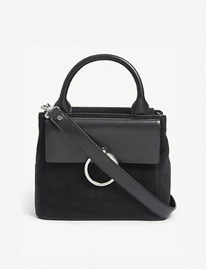 CLAUDIE PIERLOT Anouck small leather and suede shoulder bag