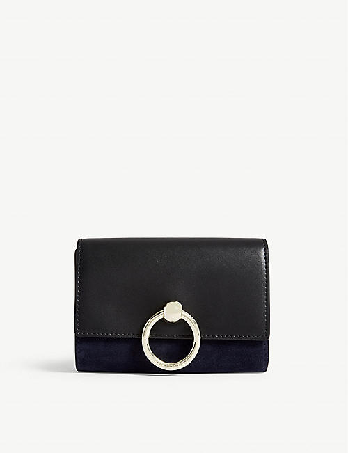 CLAUDIE PIERLOT Amaretto suede leather wallet