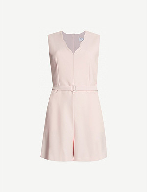 CLAUDIE PIERLOT Jane belted sleeveless crepe playsuit