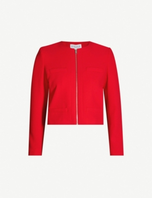CLAUDIE PIERLOT Ville collarless crepe jacket