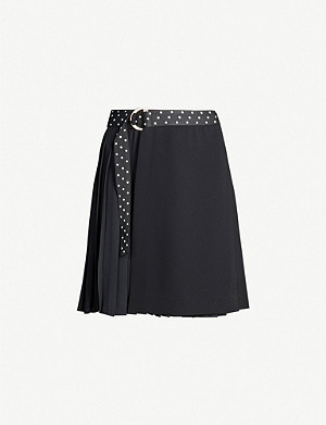 CLAUDIE PIERLOT Polka-dot waist high-waist wool-blend mini skirt