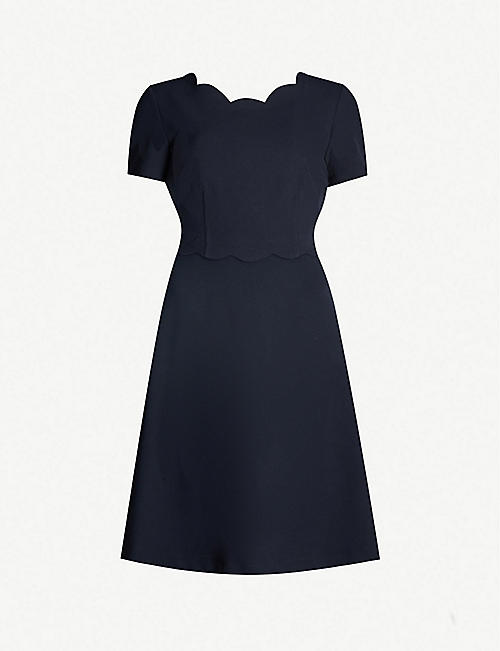39ce1f269 CLAUDIE PIERLOT Remi scalloped cut-out back crepe dress
