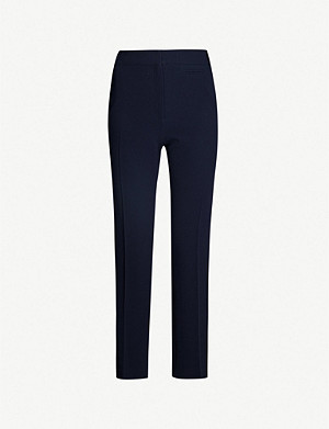 CLAUDIE PIERLOT Tape-detail straight woven trousers