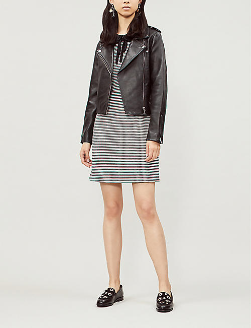 CLAUDIE PIERLOT Cassandre fitted leather jacket