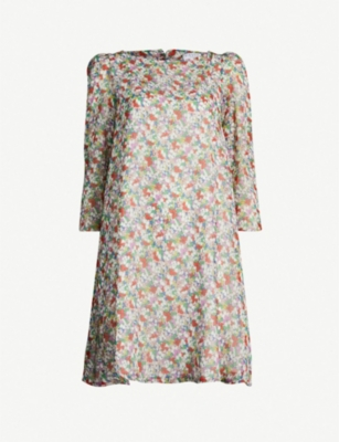 CLAUDIE PIERLOT Rififi floral-print crepe dress