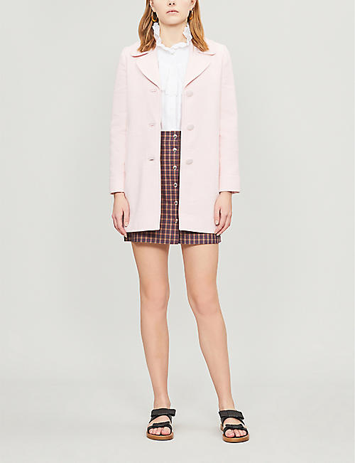CLAUDIE PIERLOT Glenn Bis single-breasted cotton-blend coat