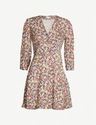 CLAUDIE PIERLOT Rivabella floral-print woven dress