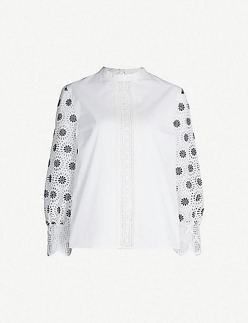 CLAUDIE PIERLOT Geometric lace top