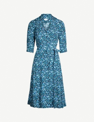 CLAUDIE PIERLOT Response floral-print crepe shirt dress