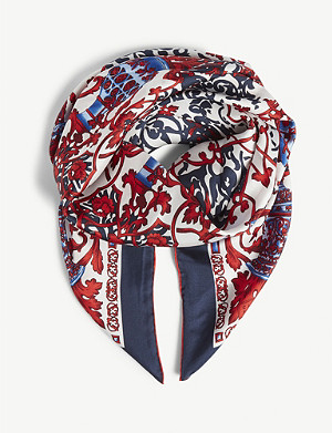 CLAUDIE PIERLOT Patterned silk scarf