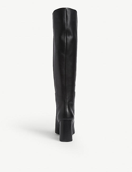 CLAUDIE PIERLOT Audrey leather knee high boots