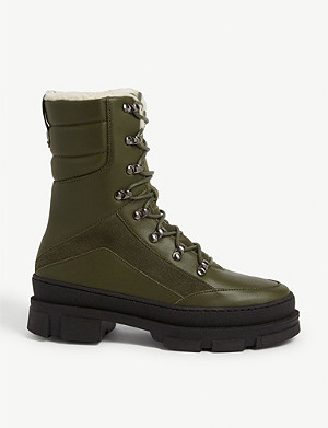 CLAUDIE PIERLOT Aube leather hiking boots