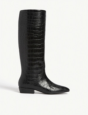 CLAUDIE PIERLOT Anemoneh knee-high leather boots