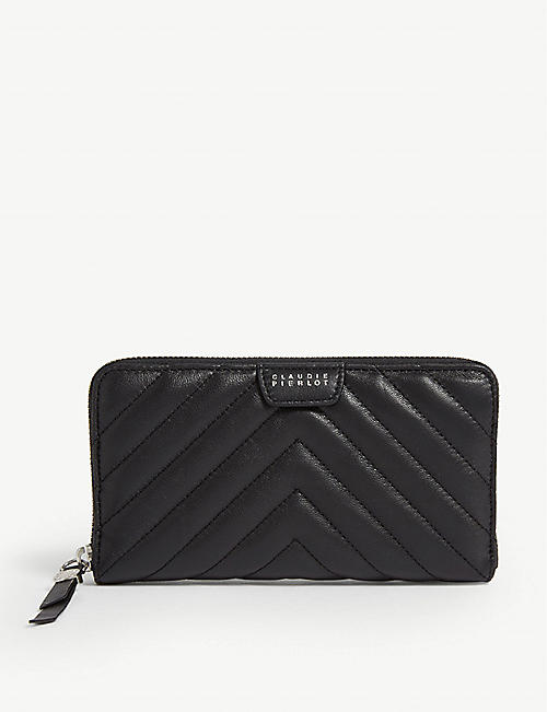 CLAUDIE PIERLOT: Angie quilted leather wallet