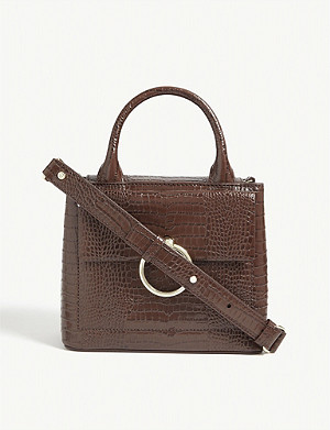 CLAUDIE PIERLOT Anouck small reptile-embossed leather shoulder bag
