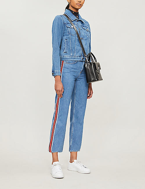 CLAUDIE PIERLOT Mirrored-button denim jacket