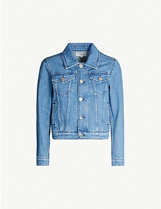 CLAUDIE PIERLOT: Mirrored-button denim jacket