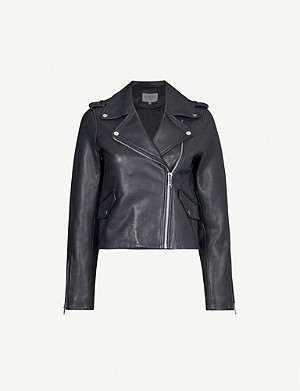 CLAUDIE PIERLOT Coquillette leather jacket