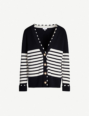 CLAUDIE PIERLOT Minervah striped wool cardigan