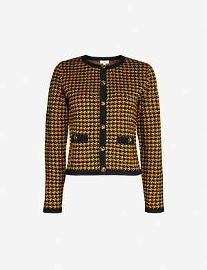 CLAUDIE PIERLOT MaxyPunkH19 houndstooth-print knitted cardigan