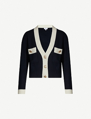 CLAUDIE PIERLOT Mini buttoned wool-blend cardigan